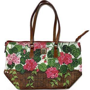 Dooney & Bourke Printed Floral Shoulder Tote Bag